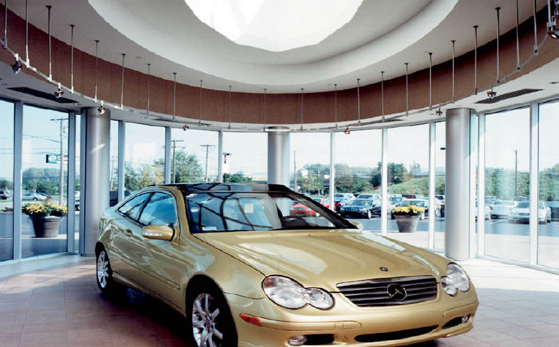 Auto dealership design by synthesis mercedes benz hartford for Mercedes benz hartford