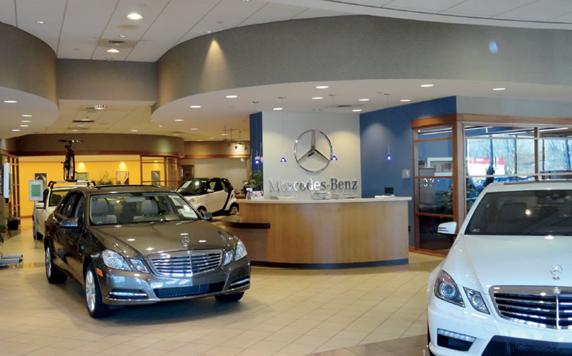 auto dealership design by synthesis mercedes benz hartford
