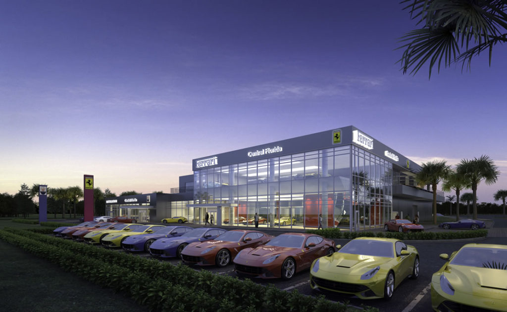 ferrari luxury dealership - central florida - synthesis architects